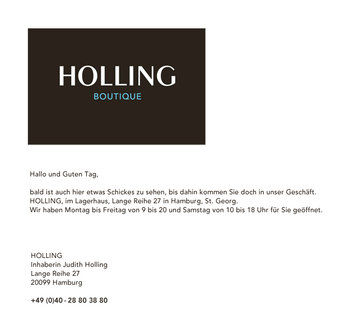 HOLLING BOUTIQUE